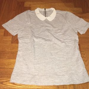 Jcrew grey short sleeve cotton t shirt